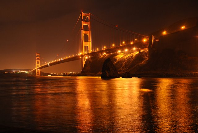 pictures of the golden gate bridge at night. Golden Gate Bridge